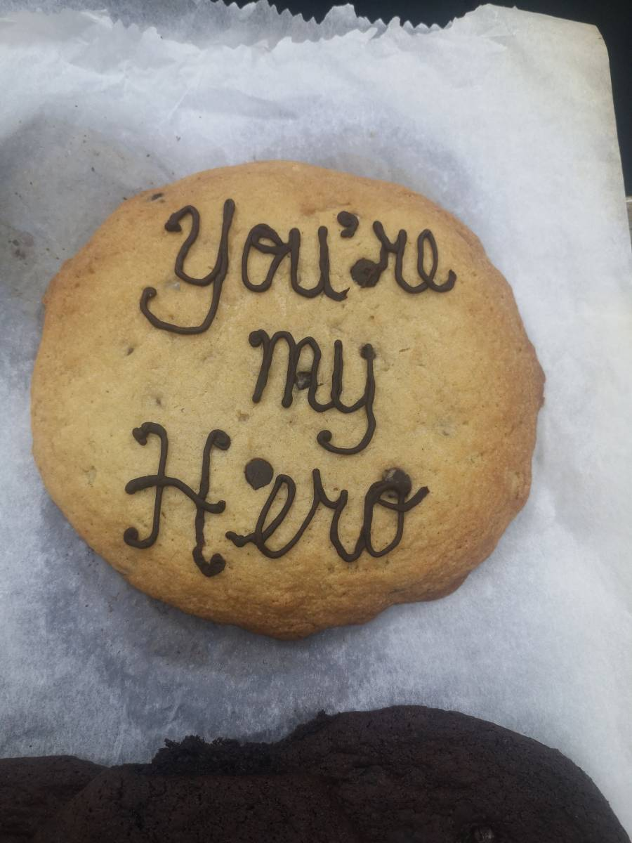 You're my hero cookie